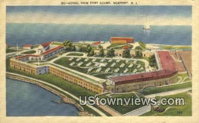Fort Adams - Newport, Rhode Island RI Postcard