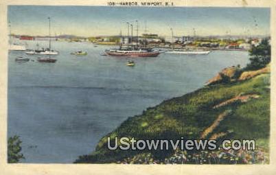 Harbor - Newport, Rhode Island RI Postcard