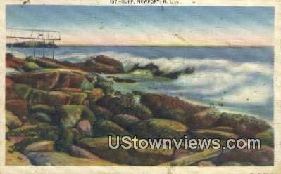 Surf - Newport, Rhode Island RI Postcard