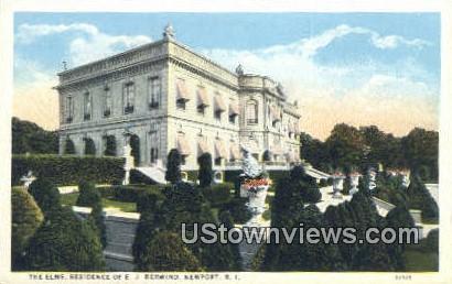 The Elms, E.J. Berwind's Residence - Newport, Rhode Island RI Postcard