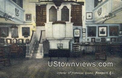 Historical Rooms - Newport, Rhode Island RI Postcard