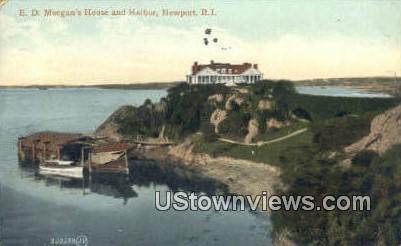E.D. Morgan's House & Harbor - Newport, Rhode Island RI Postcard