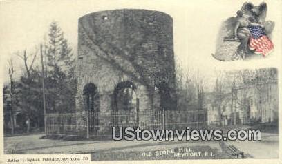 Old Stone Mill - Newport, Rhode Island RI Postcard