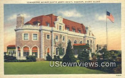 Commodore Arthur Curtis James Estate - Newport, Rhode Island RI Postcard