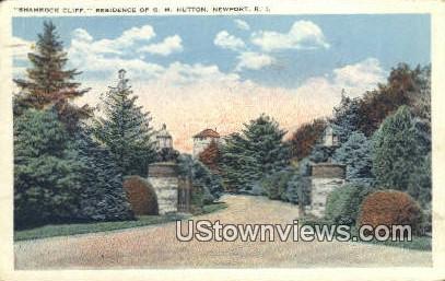 Shamrock Cliff - Newport, Rhode Island RI Postcard