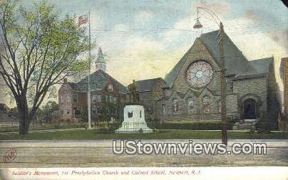 Soldiers' Monument - Newport, Rhode Island RI Postcard