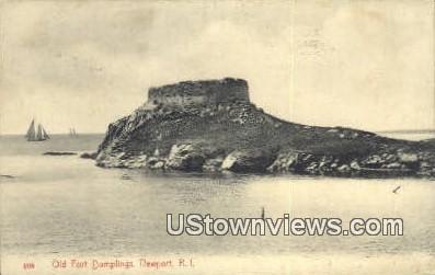 Old Fort Dumplings - Newport, Rhode Island RI Postcard