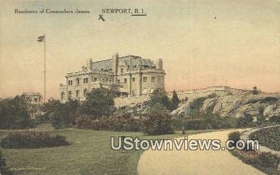 Residence of Commodore James - Newport, Rhode Island RI Postcard