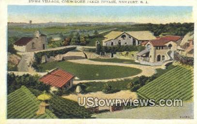 Swiss Village, Commodore James Estate - Newport, Rhode Island RI Postcard