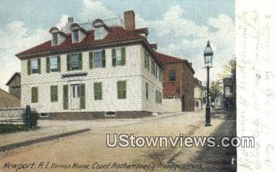 Vernon House - Newport, Rhode Island RI Postcard