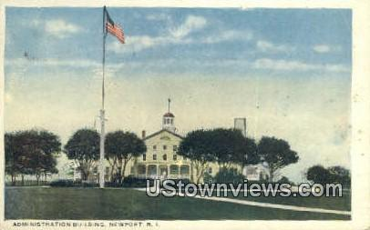 Admin Bldg - Newport, Rhode Island RI Postcard