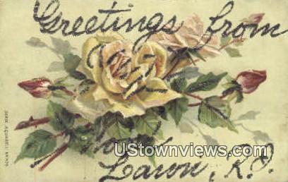 Greetings from - Wood Lawn, Rhode Island RI Postcard