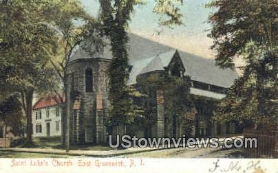 St. Luke's Church - East Greenwich, Rhode Island RI Postcard