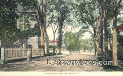 Pierce Street - East Greenwich, Rhode Island RI Postcard