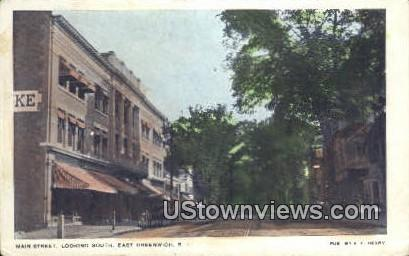 Main Street - East Greenwich, Rhode Island RI Postcard