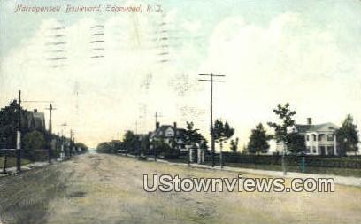 Narragansett Blvd - Edgewood, Rhode Island RI Postcard