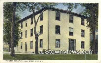 Windsor Dorm - East Greenwich, Rhode Island RI Postcard