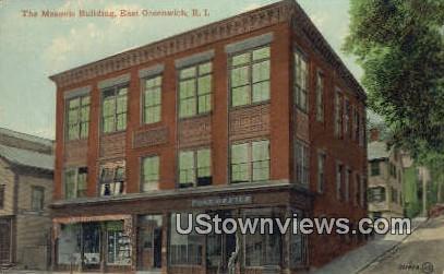 Masonic Bldg - East Greenwich, Rhode Island RI Postcard