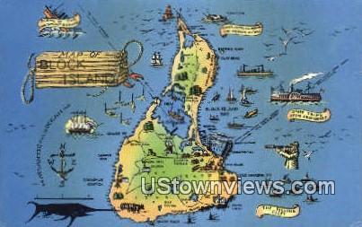 Block Island, RI, Postcard;  Block Island, Rhode Island,