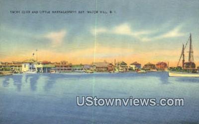 Yacht Club - Watch Hill, Rhode Island RI Postcard