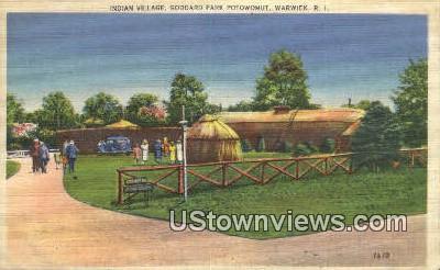 Indian Village, Goddard park Potowomut - Warwick, Rhode Island RI Postcard
