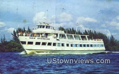 MV New Shoreham - Warren, Rhode Island RI Postcard
