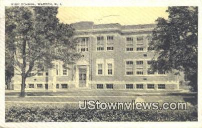 High School, Warren - Rhode Island RI Postcard