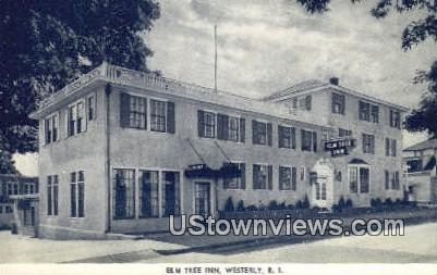 Elm Tree Inn - Westerly, Rhode Island RI Postcard