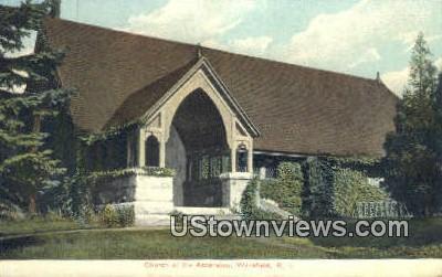 Church of Ascension - Wakefield, Rhode Island RI Postcard