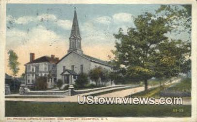 St. Francis Catholic Church - Wakefield, Rhode Island RI Postcard