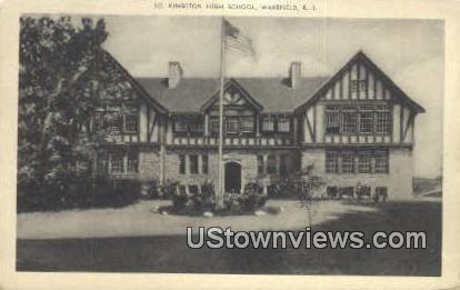 Kingston High School - Wakefield, Rhode Island RI Postcard