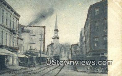 Broadway - Pawtucket, Rhode Island RI Postcard