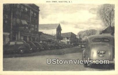 Main Street - Wakefield, Rhode Island RI Postcard