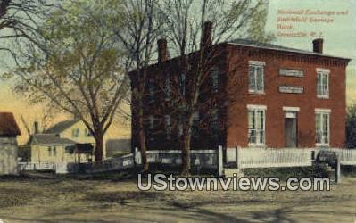 National Exchange, Smithfield Savings Bank - Greenville, Rhode Island RI Postcard