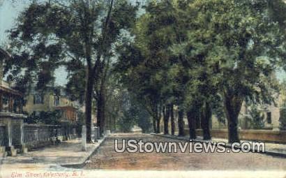 Elm Street - Westerly, Rhode Island RI Postcard