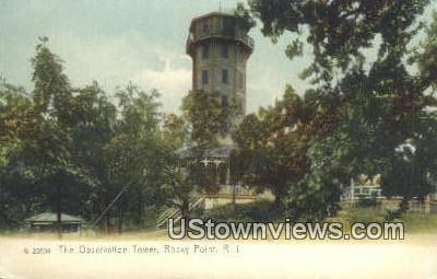 Observation Tower - Rocky Point, Rhode Island RI Postcard