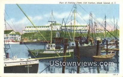 Old Harbor - Block Island, Rhode Island RI Postcard