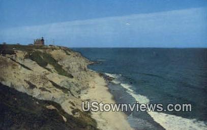 Mohegan Bluffs - Block Island, Rhode Island RI Postcard