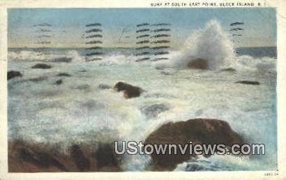 East Point - Block Island, Rhode Island RI Postcard