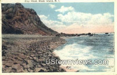 Clay Head - Block Island, Rhode Island RI Postcard