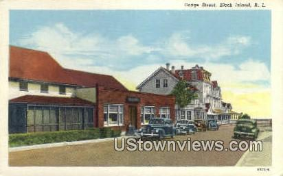 Dodge Street - Block Island, Rhode Island RI Postcard