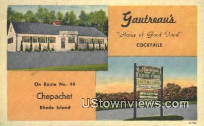 Gauthreau's - Chepachet, Rhode Island RI Postcard