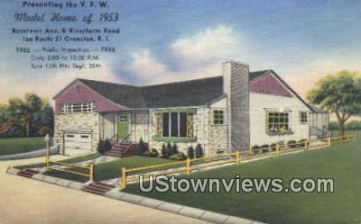 Model Home - Cranston, Rhode Island RI Postcard