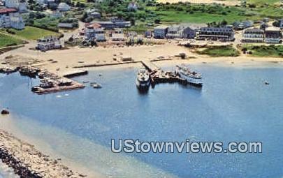 Steamship, Old Harbor - Block Island, Rhode Island RI Postcard