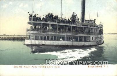 Steamer Mount Hope - Block Island, Rhode Island RI Postcard