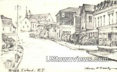Block Island, Rhode Island,;  Block Island, RI, Postcard
