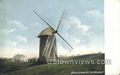 Old Windmill - Block Island, Rhode Island RI Postcard