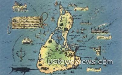 Block Island, RI,;  Block Island, Rhode Island, Postcard