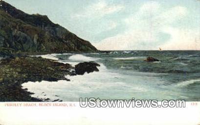 Pebbley Beach - Block Island, Rhode Island RI Postcard