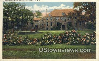 neighborhood Guild - Peace Dale, Rhode Island RI Postcard